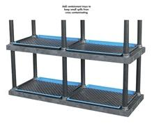 CONTAINMENT TRAYS FOR DURA-SHELF® PLASTIC BULK SHELVING